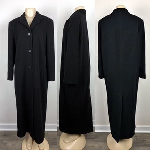 Marvin Richards Black Cashmere Peacoat/ Trench